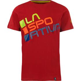 La Sportiva Square Bluzka z krótkim rękawem Mężczyźni, chili